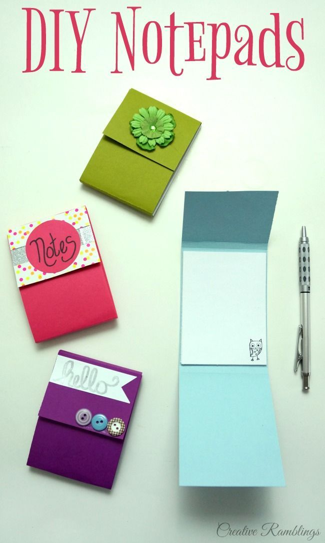Easy Diy Notepad Using Scrap Paper And Simple Craft Supplies Video