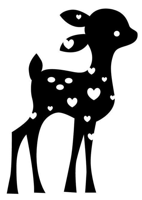 Details Zu Motivstempel Clearstamp Acrylstempel Stempel Bambi Rehkitz Reh Artemio 10020072 Rehkitz Silhouetten Projekte Reh