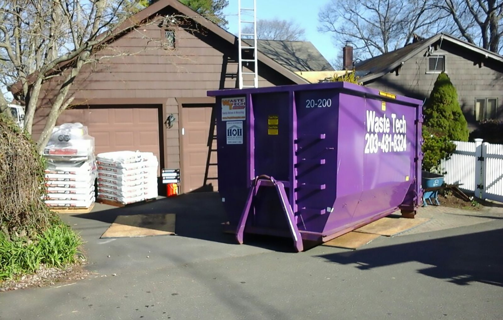 Getting ready to do a roof in branford ct dumpster