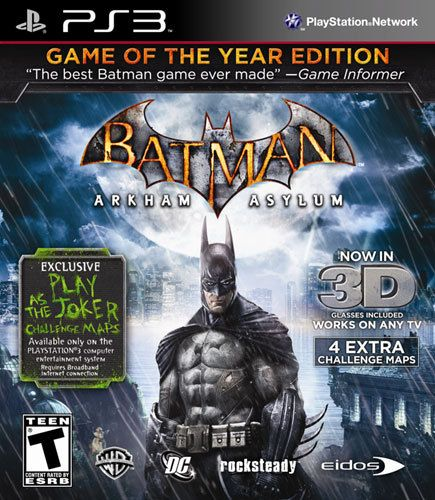Best Buy Batman Arkham Asylum Game Of The Year Edition Playstation 3 1000150450 Batman Arkham Asylum Arkham Asylum Batman Arkham