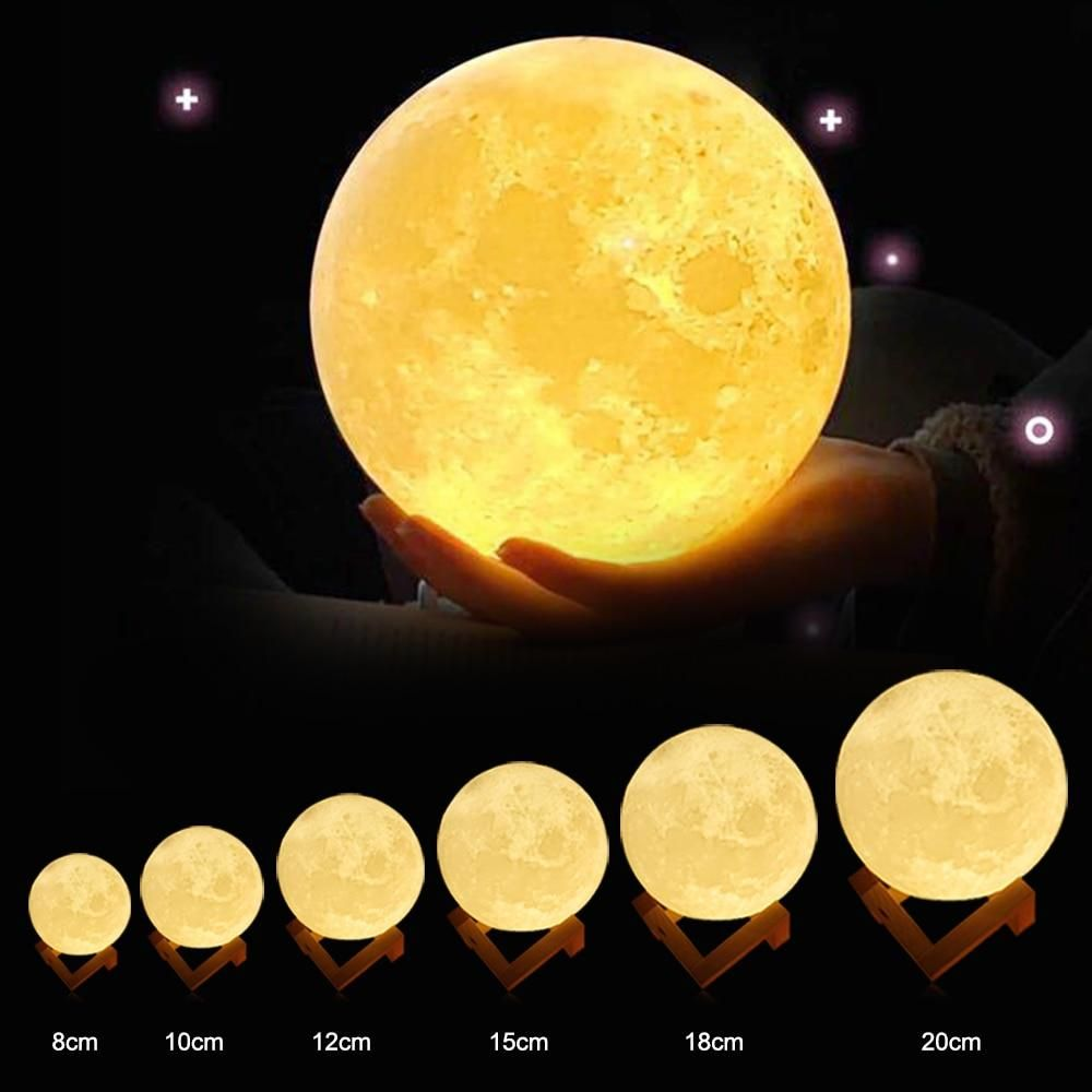 Custom 3d Photo Printed Moon Light Valentines Day Gifts Photo Lamp 3d Photo Photo Lighting