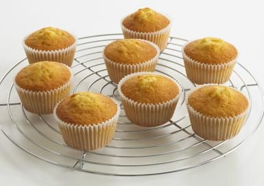 These Lemon Vanilla Cupcakes Are Free of 3 Major Allergens: Cupcakes on cooling rack