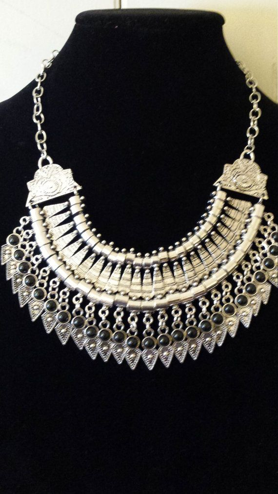 Statement necklace silver necklace Fashion by LoveAllThingsUnique