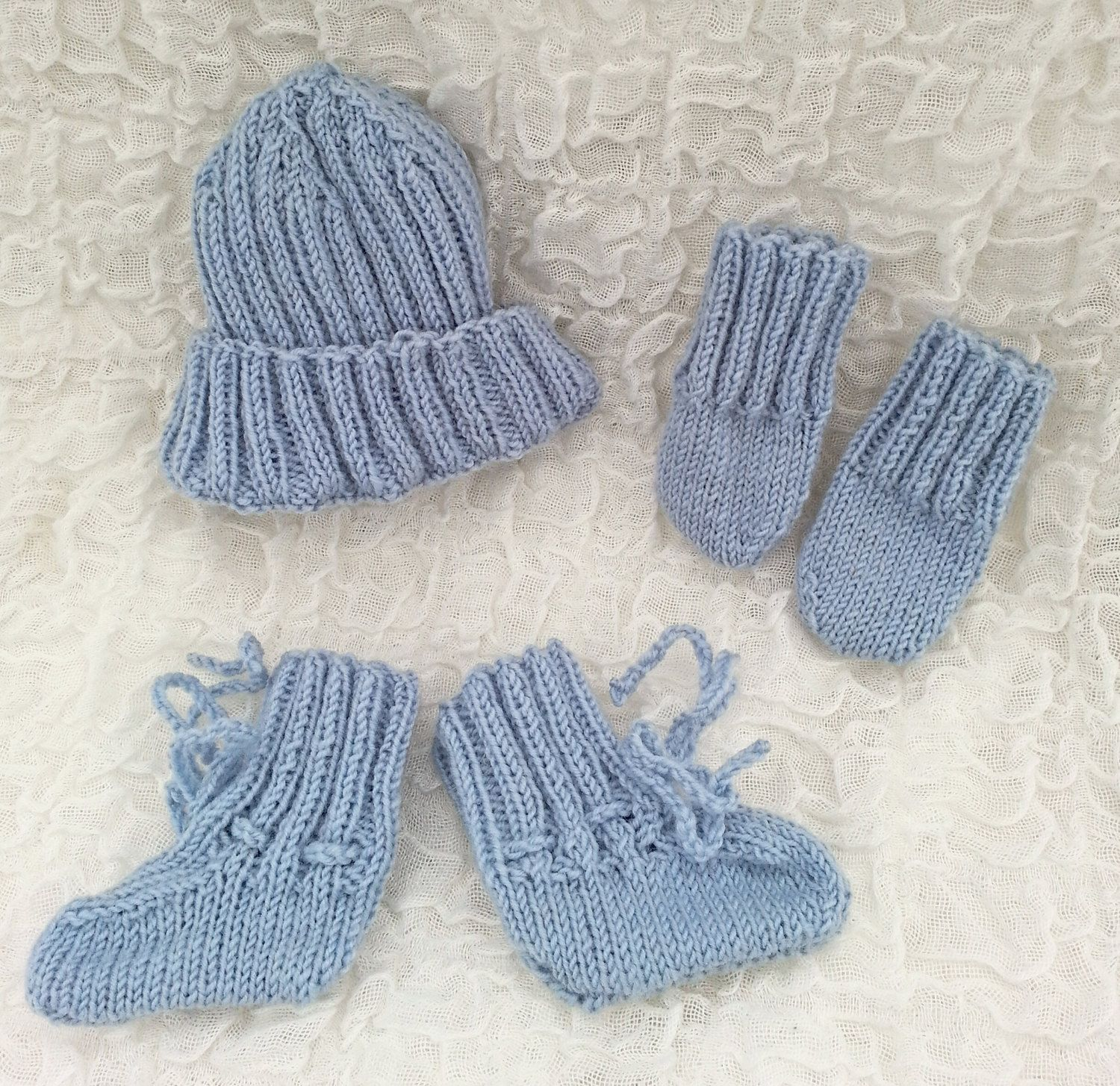 162ab8196fe HAND KNIT Premature Baby Set