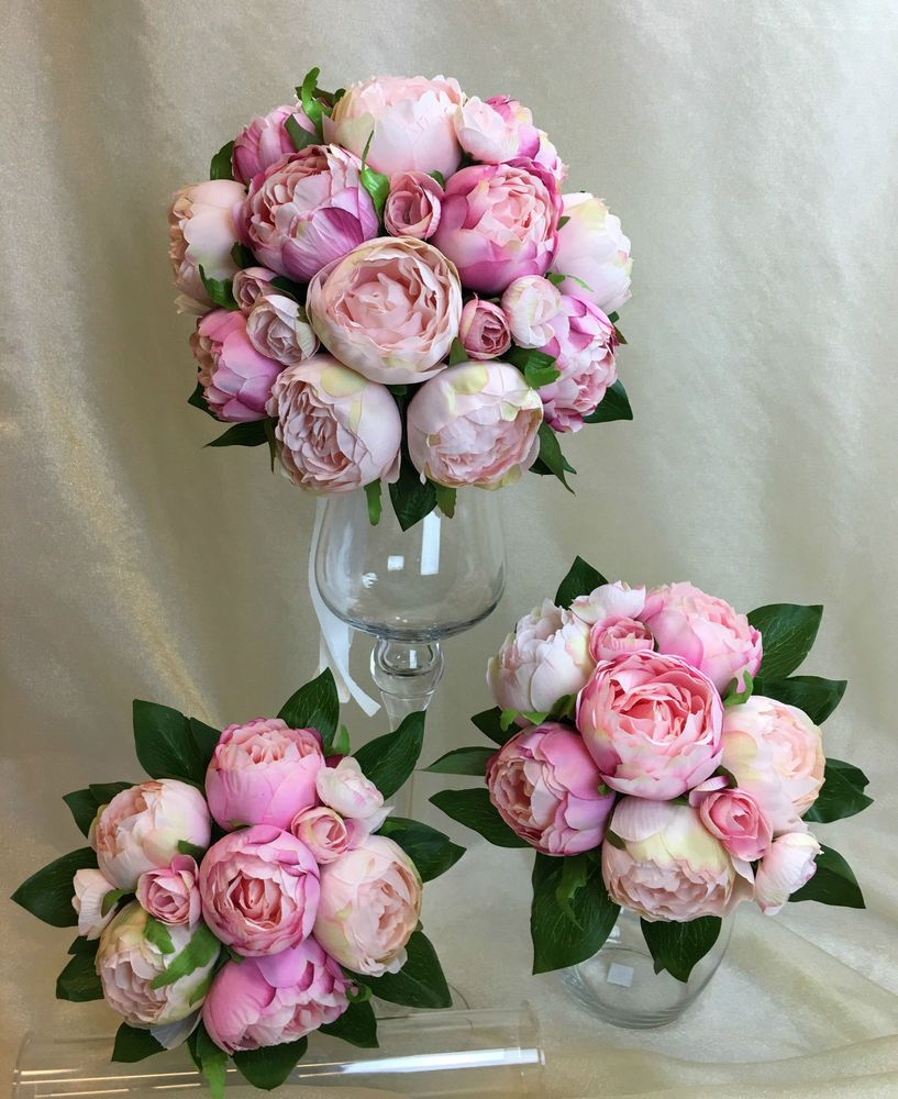 Details about light pinkpink peony artificial silk