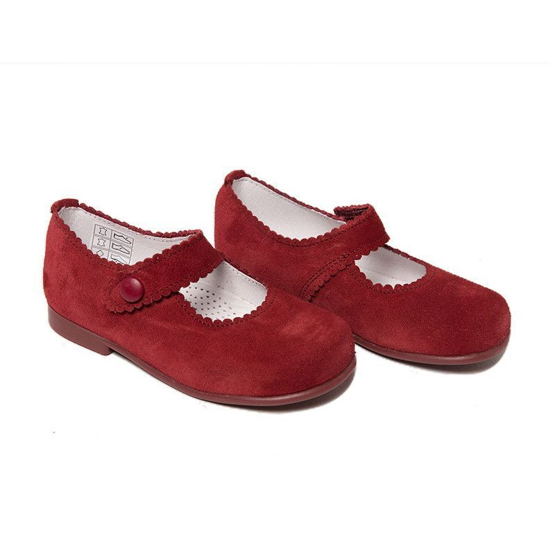 da30c1da375 My-First Wine Velvet Baby Mary Janes with Patent Bows