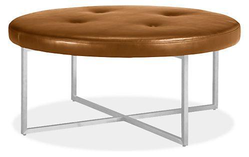Pleasant Sidney Leather Round Ottomans Jessica Round Ottoman Evergreenethics Interior Chair Design Evergreenethicsorg
