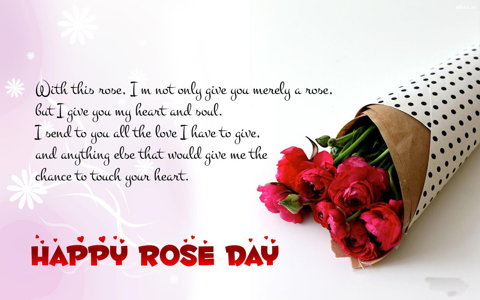 Rose Day Wishes 2018 Happy Rose Day Wallpaper Rose Day Wallpaper Love Quotes With Images