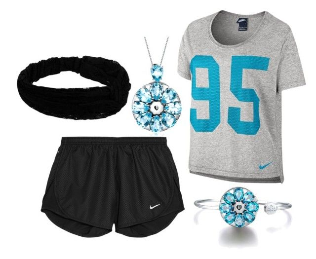 """""""Sporty Outfit Paired with Totwoo"""" by softball1716 ❤ liked on Polyvore featuring NIKE"""