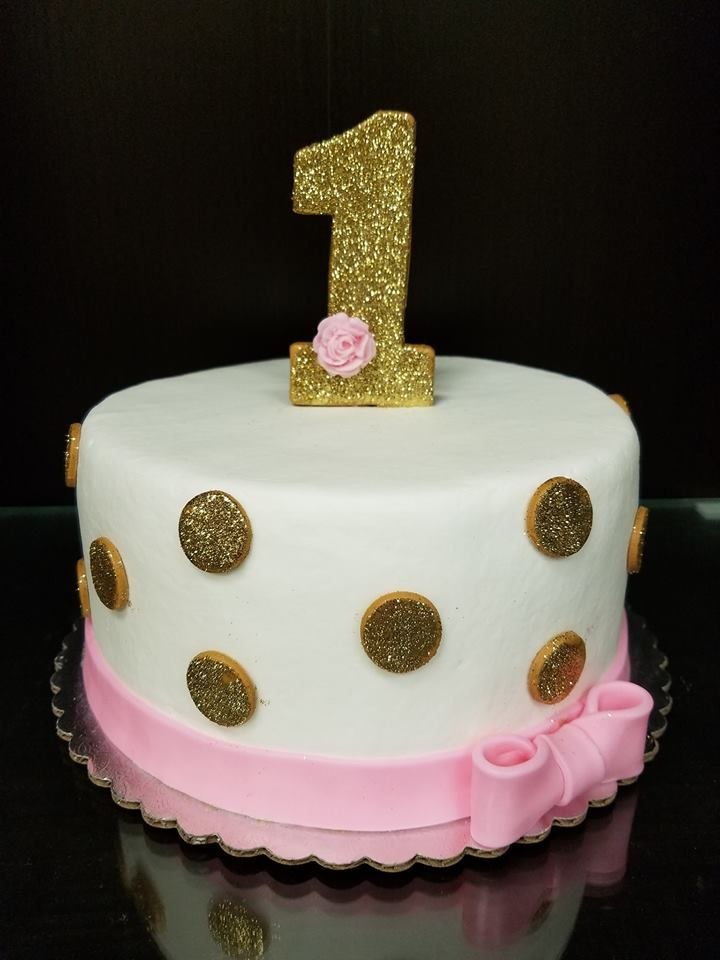 Gold And Pink Smash Cake 1st Birthday Cake For Girls Pink Smash