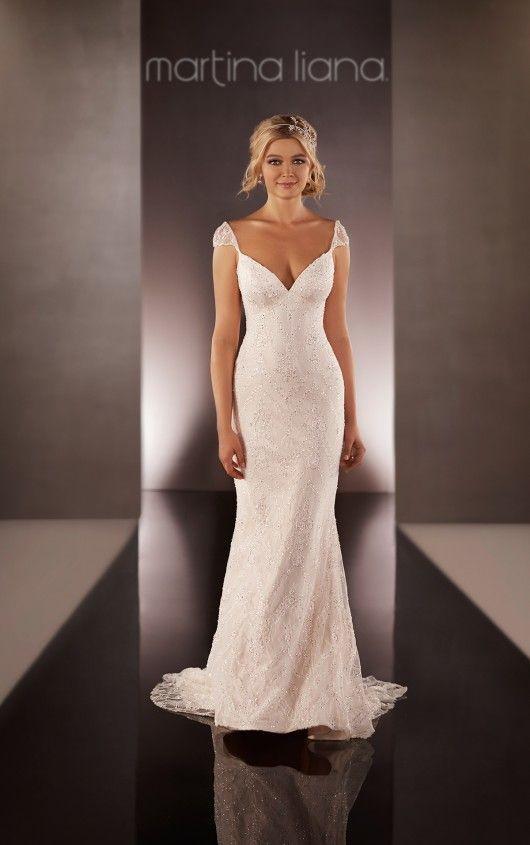 606 Cap Sleeve Wedding Dress by Martina Liana | Exquisite wedding ...