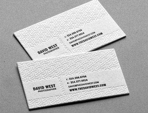 Neat and cool collection of black and white business cards google caro david west visto da lontano sembra fatto di carta igienica per colourmoves