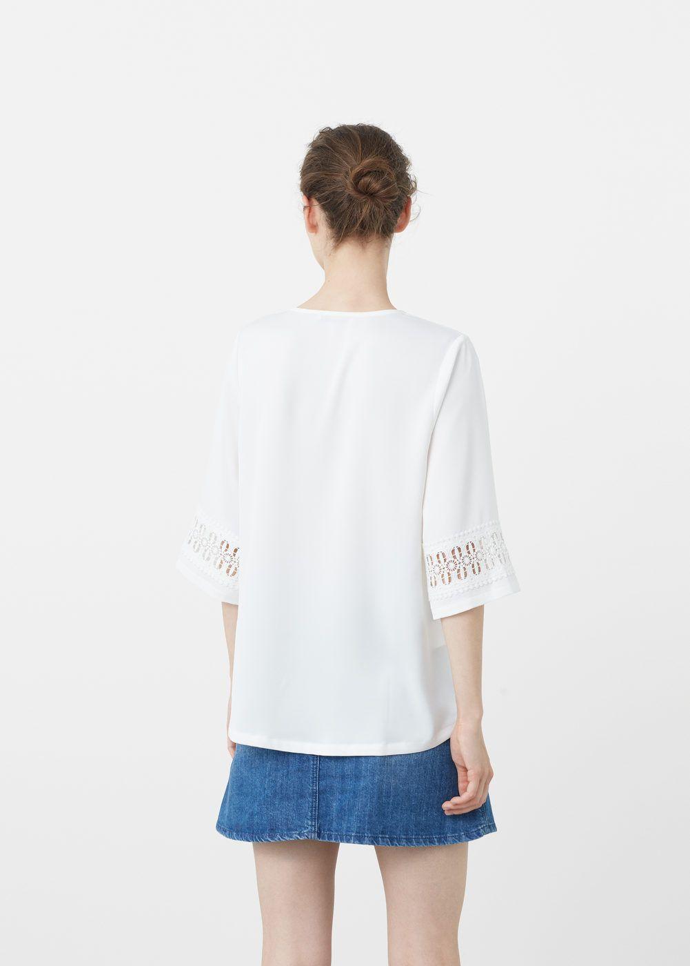Blusa bordado crochet | MANGO