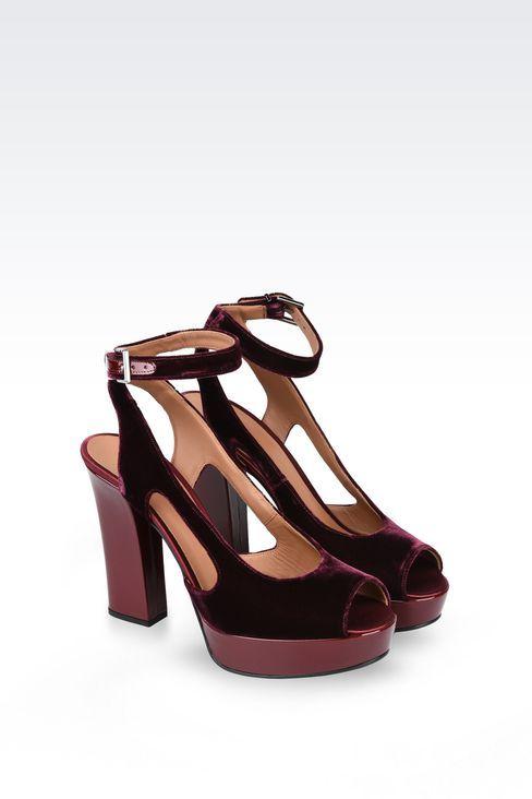 wholesale sales official incredible prices SANDALE EN VELOURS ET SATIN: Sandales à talon Femme by ...