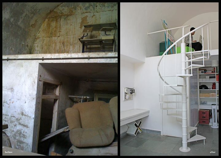 Studio before/after