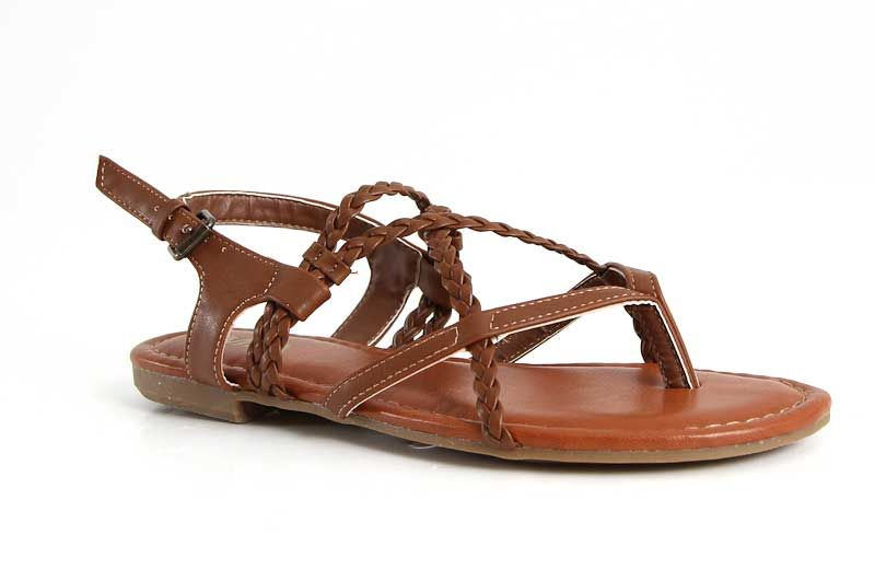 Mia Shoes Dannie Braided Sandals in Luggage GG1647-LUGGAGE
