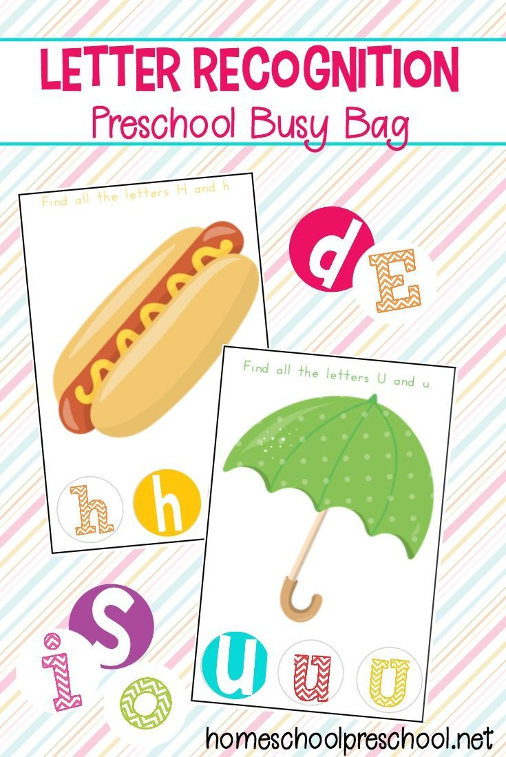 Letter recognition preschool busy bag abc printables group board