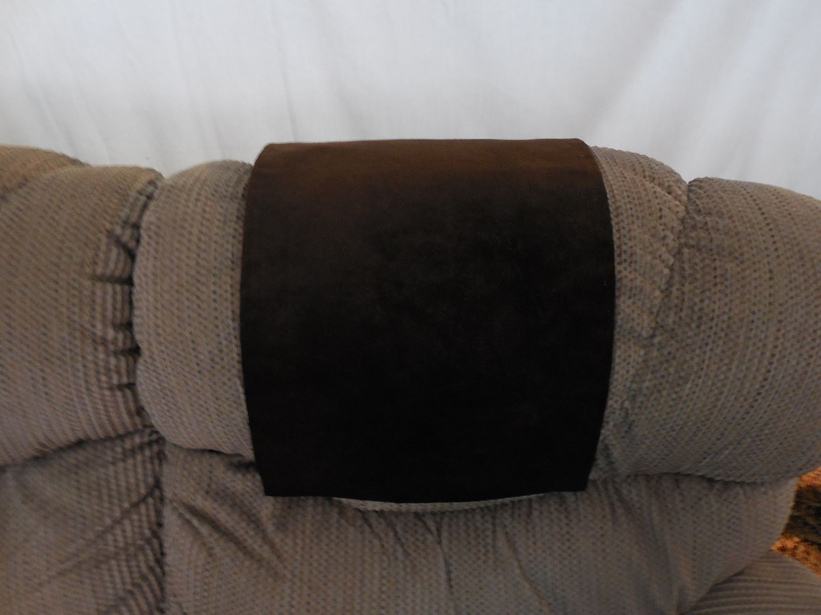 Chair Headrest Cover Papasan Stool Cushions Kovi Dk Brown Upholstery Material Protect Your Furniture Investment Custom Orders Available
