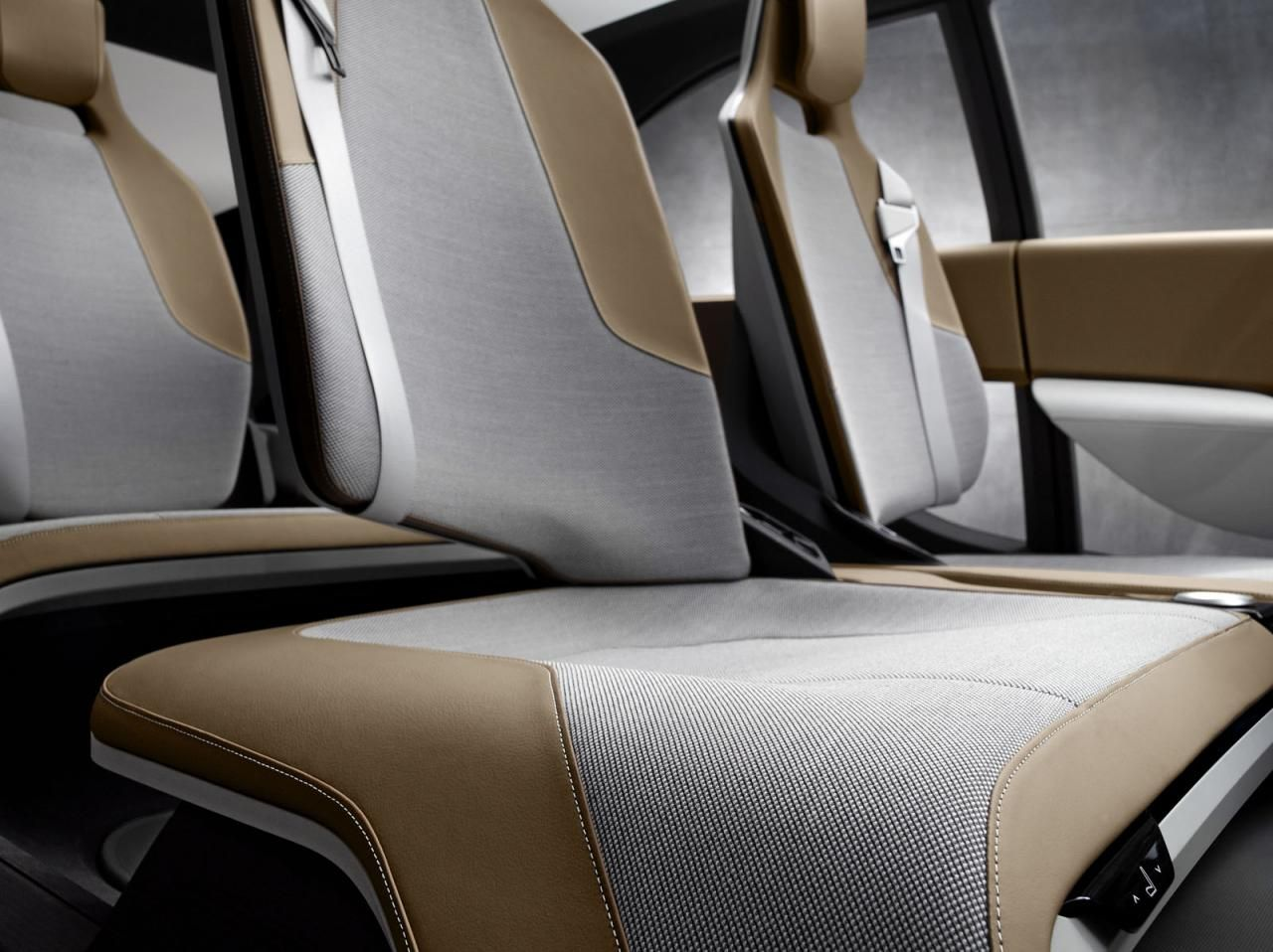 Leather cushion texture - Bmw I3 Concept Interior Fabric Texture Leather Brown Grey Comfort Car Seat Cushion Flow Modern