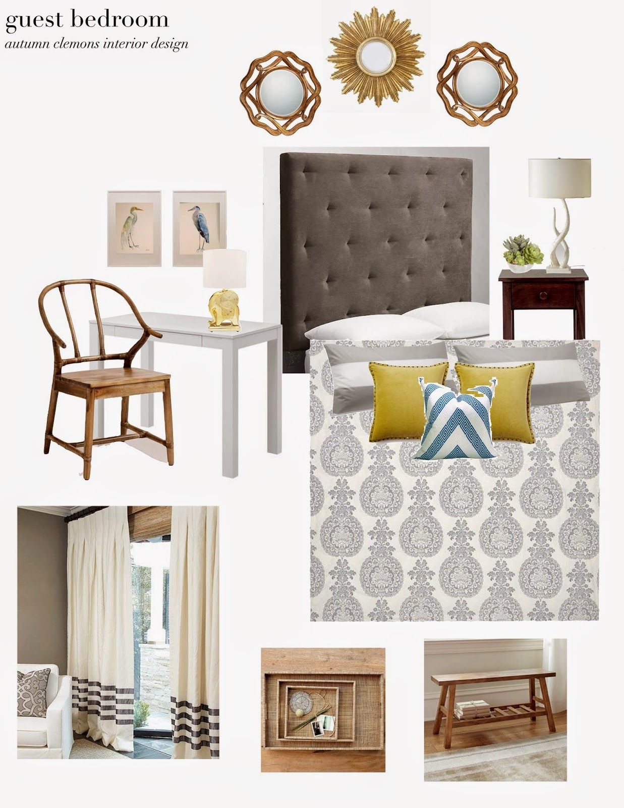 design plan for guest bedroom, using items from west elm ...
