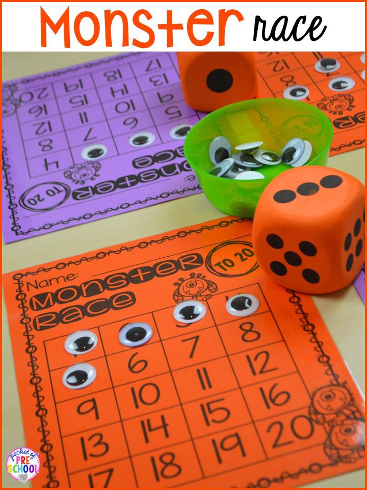Halloween Activities and Centers for Preschool, Pre-K and Kindergarten - Pocket of Preschool