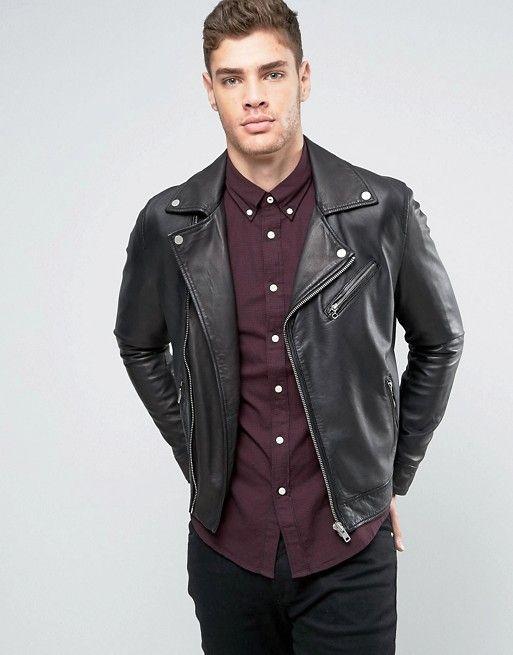 Discover Fashion Online | Leather jeans men, Leather biker