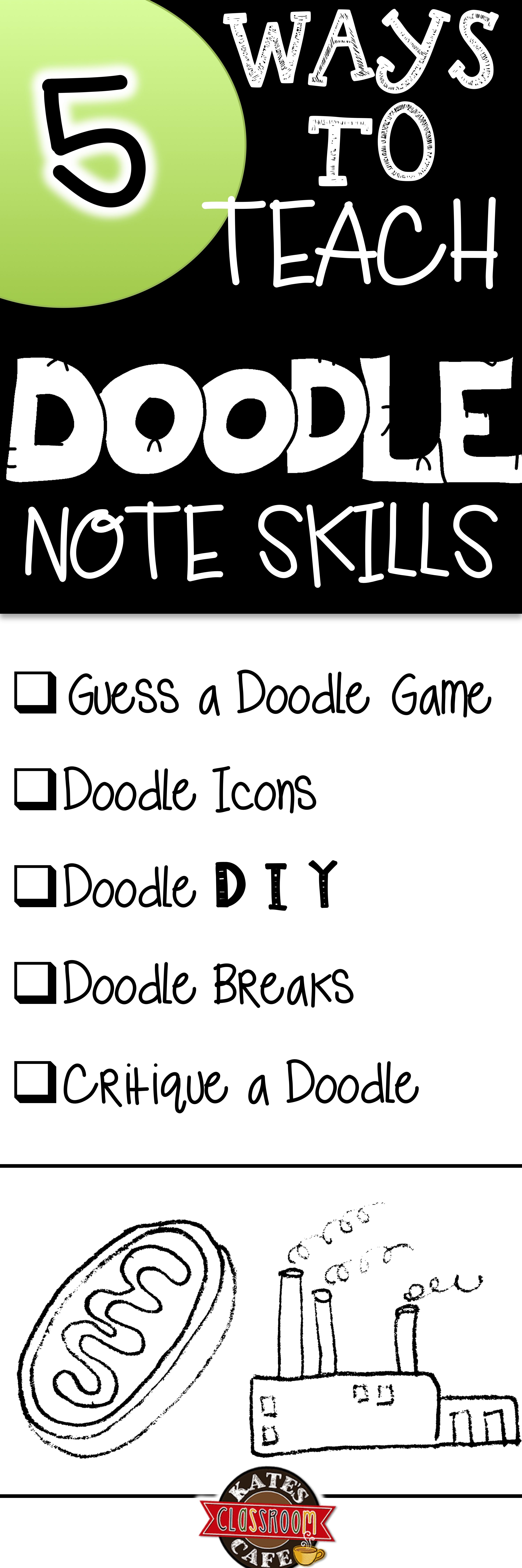 5 Ways To Teach Doodle Note Skills