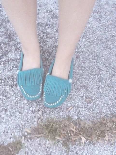 Teal Moccasins from Darlingtonia