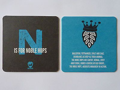 Brew dog n is for noble hops #beermat #coaster #brewdog,  View more on the LINK: 	http://www.zeppy.io/product/gb/2/111891299555/