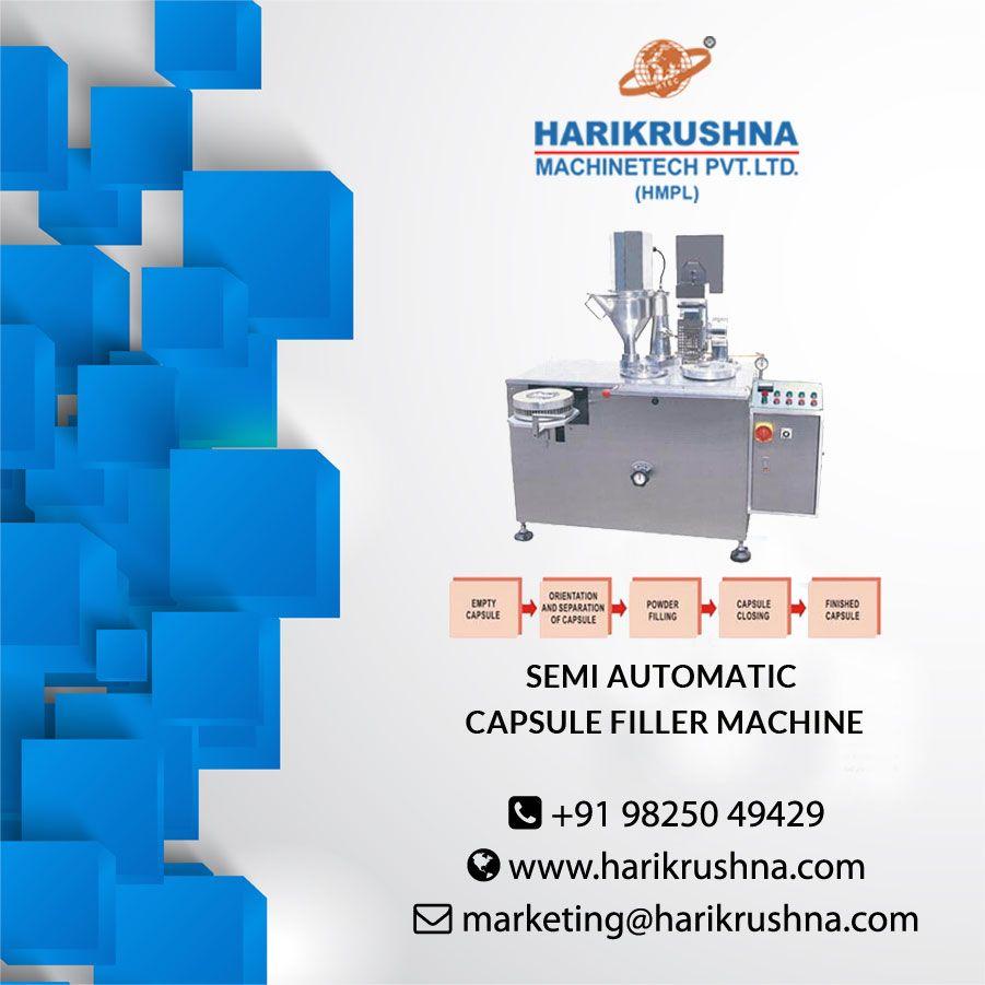 Semi Automatic Capsule Filler Machine Capsule Label Applicator Vacuum Pump