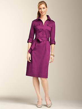Talbots - Sateen Shirtdress | | Misses