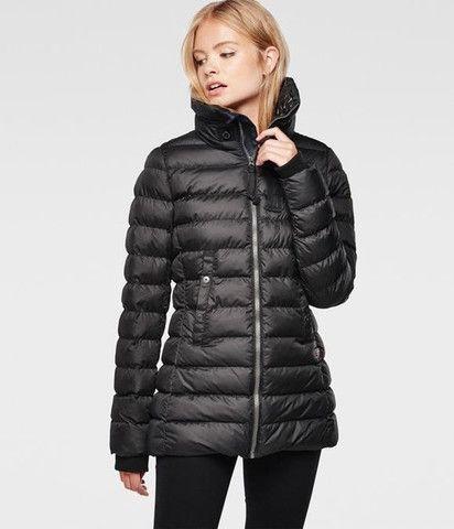 9359b931501 G-Star Raw Women's Whistler Slim Coat in Black | My Dream Closet ...