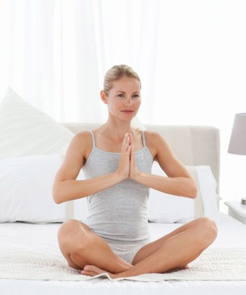 Yoga on bed could probably help the current who normally don't get much time to go out or enough space to work-out on their health or even fail to exercise.
