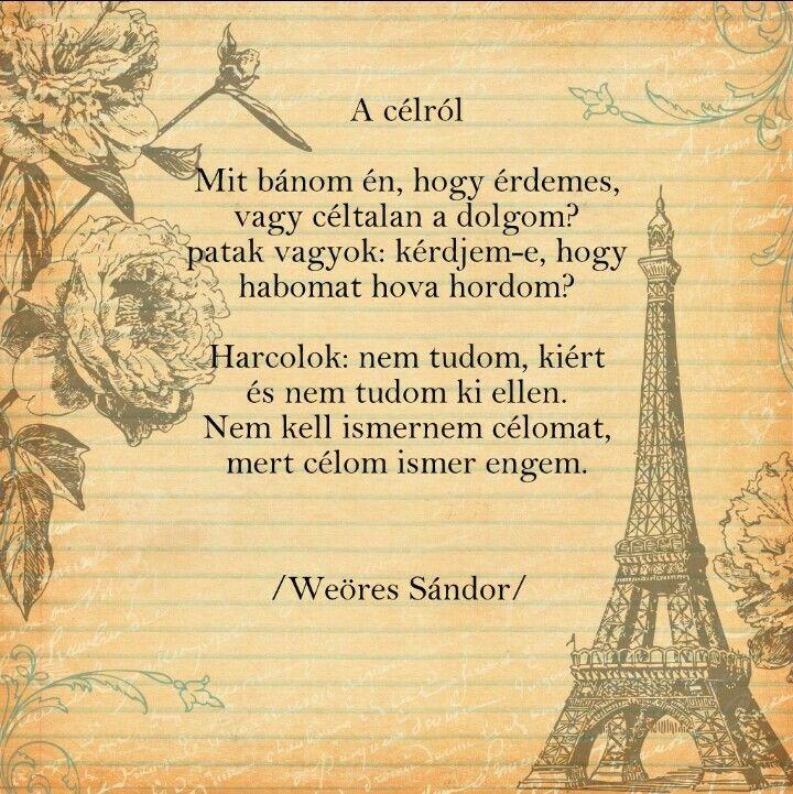 idézetek weöres sándor Weöres Sándor: A célról   Poems, Quotations, Quotes