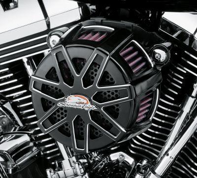 Screamin Eagle Heavy Breather Elite Performance Air Cleaner Kit Gloss Black Motos