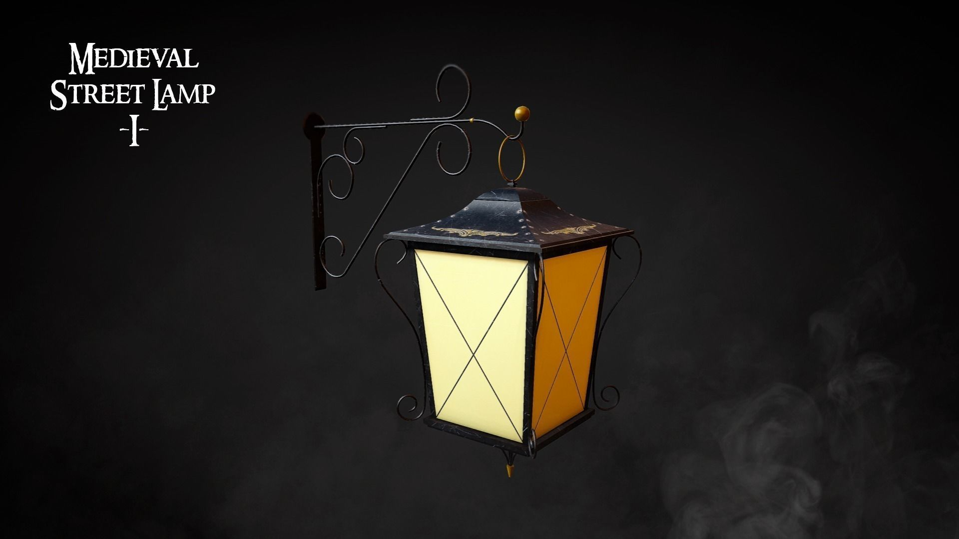 Medieval Street Lamp 01 3d Model Street Lamp Architectural Decoration Lamp