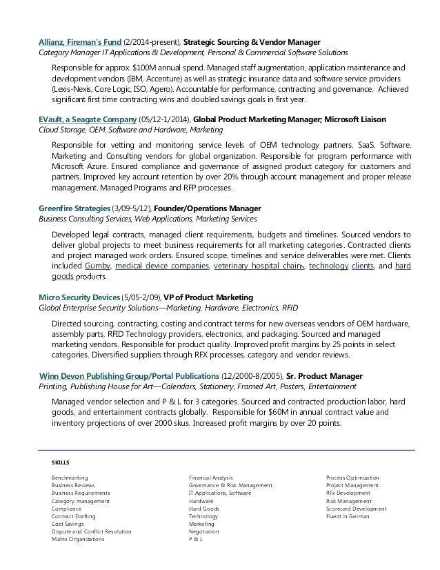 Resume Examples Vendor Management Resume Templates In 2020 Resume Examples Job Resume Examples Project Manager Resume