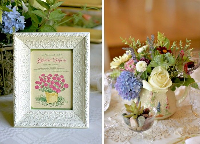 A Vintage Garden Party Themed Bridal Shower Inspired By