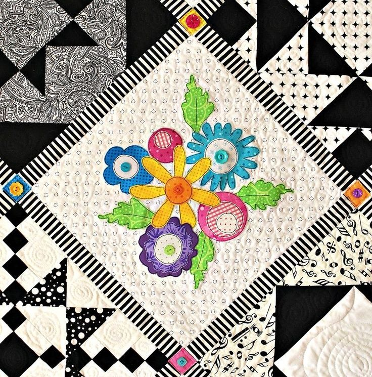 black and white quilts | Black White