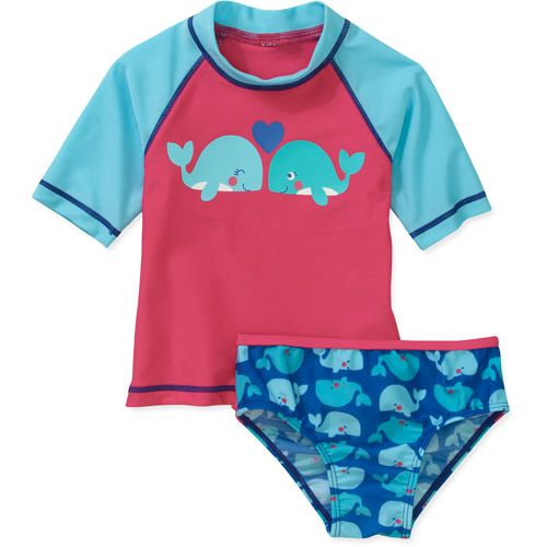 1ad99f4ea5f8d Child of Mine by Carters Newborn Girls' 2 Piece Whale Rashguard and Swimsuit  Set: Baby Clothing : Walmart.com- 12.97