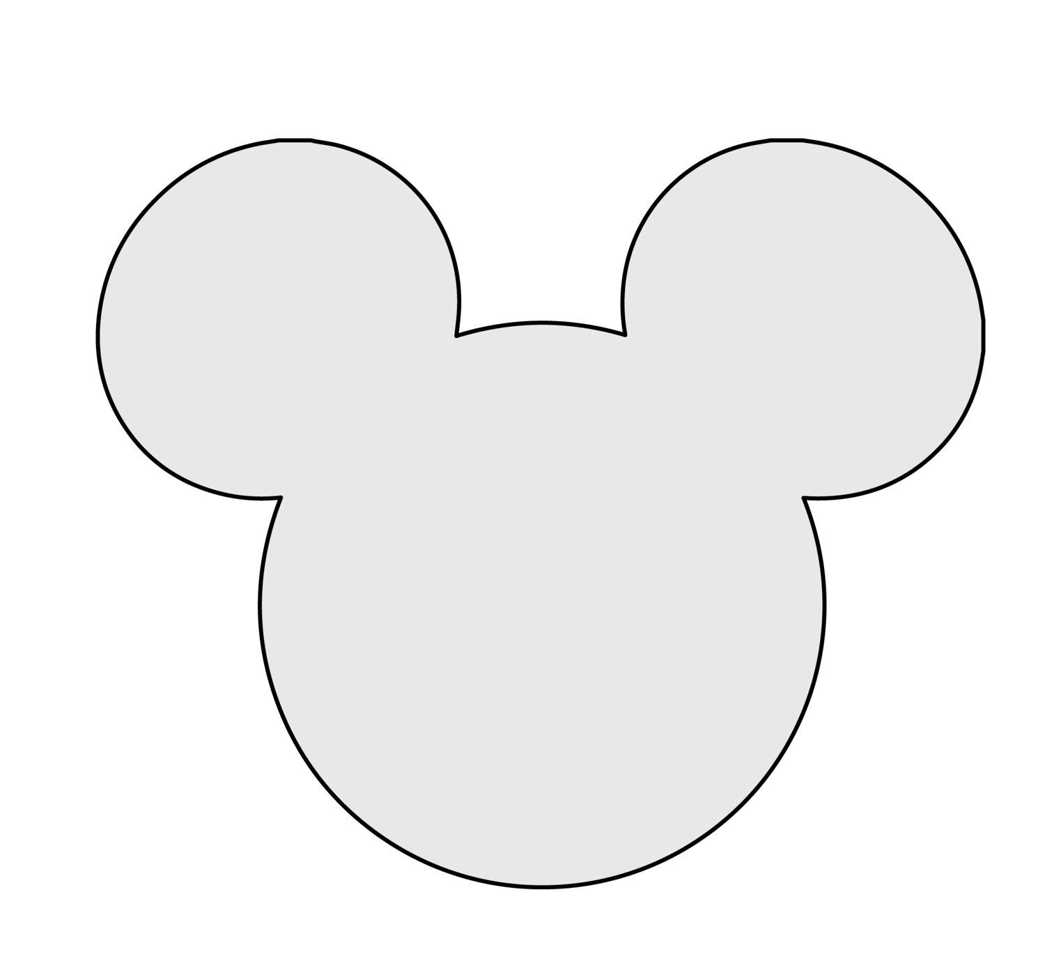 Image Result For Mickey Mouse Printable Template Invitation Cutouts Mickey Mouse Silhouette Mickey Mouse Invitation Free Mickey Mouse Printables