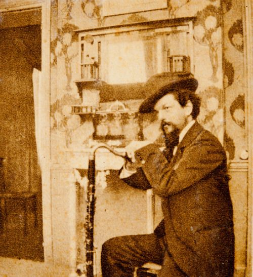 Claude Debussy Leaning On His Bass Clarinet In Pierre Louys S Home
