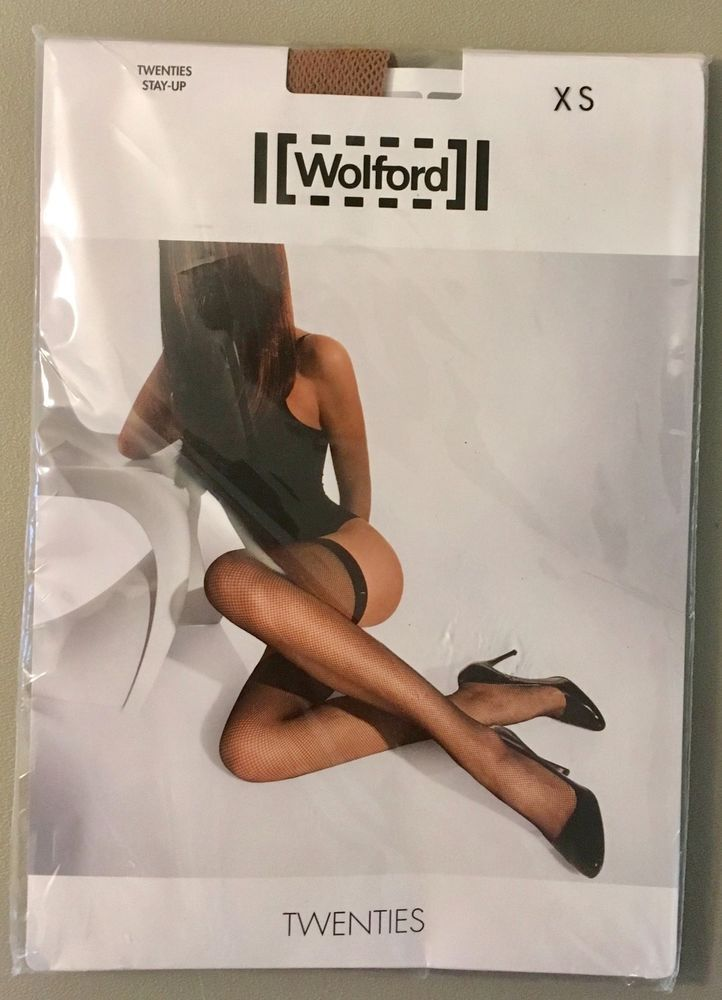 134ef418a4a Wolford The Twenties Size XS Stay Up Fishnet Stockings Honey Thigh Highs  NEW  Wolford  ThighHighs