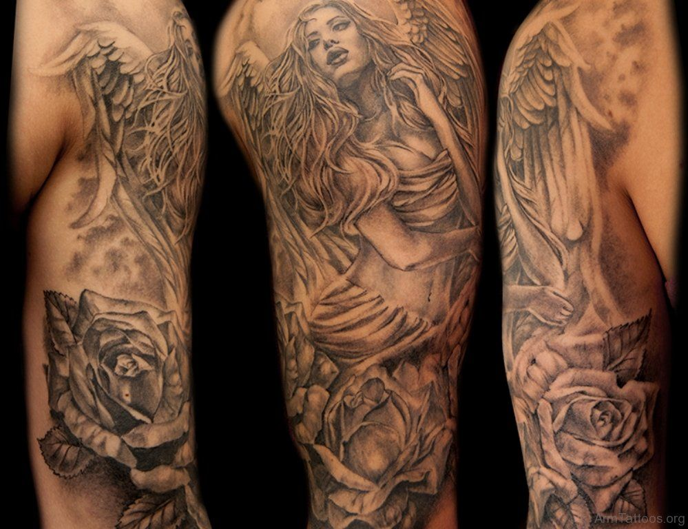Image result for angel shoulder tattoo (With images