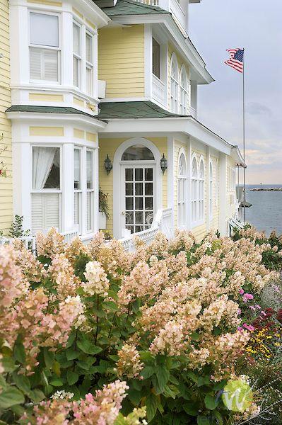 Fall Garden With Hydrangea Main Huron St Mackinac Island