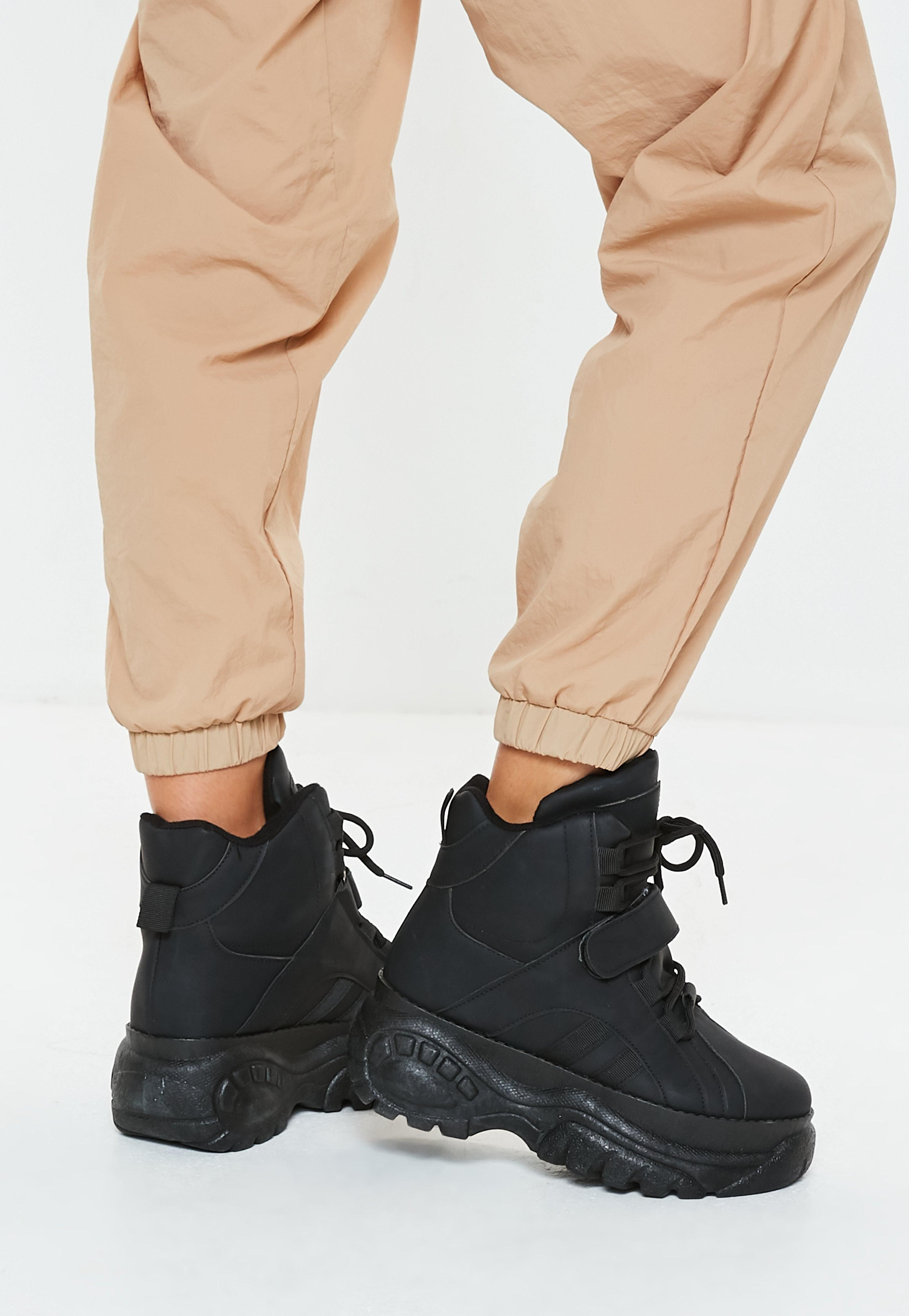 767a28407c3cb black-super-chunky-sole-utility-sneaker-boots Buffalo Shoes