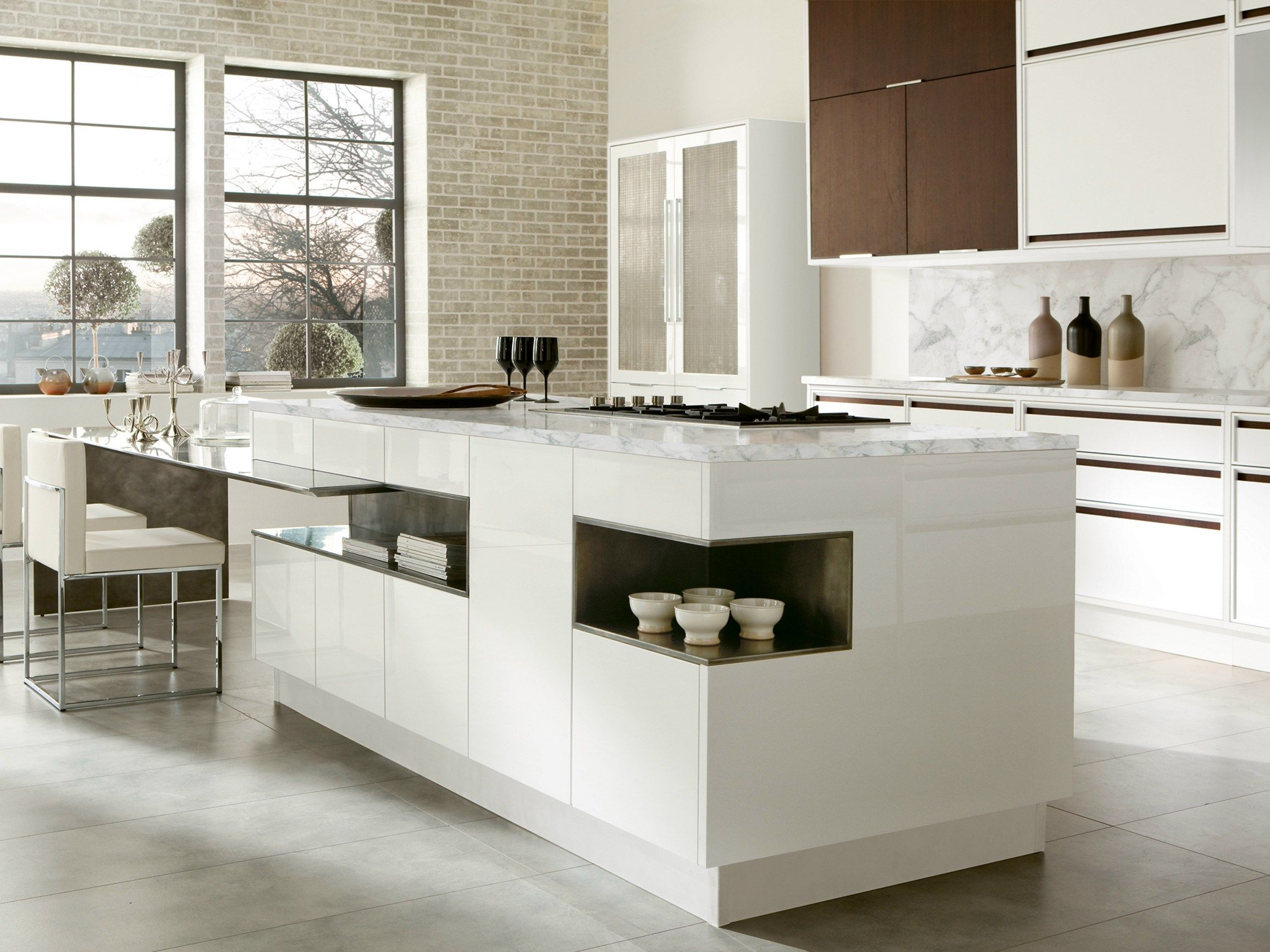 LACQUERED KITCHEN WITH ISLAND WITH INTEGRATED HANDLES TIMELINE ...