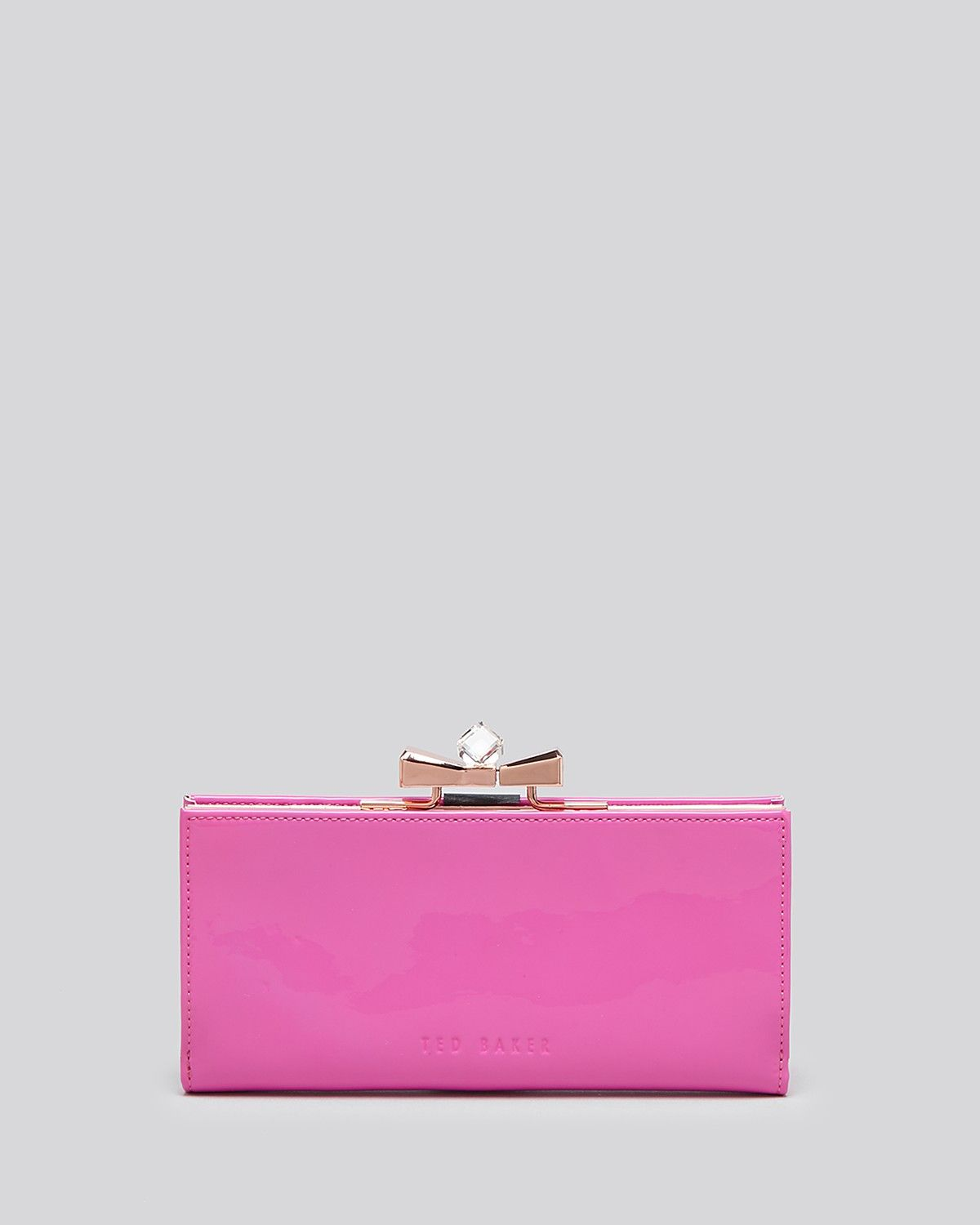 842333a33fa469 Ted Baker Wallet - Patent Crystal Popper Continental ...