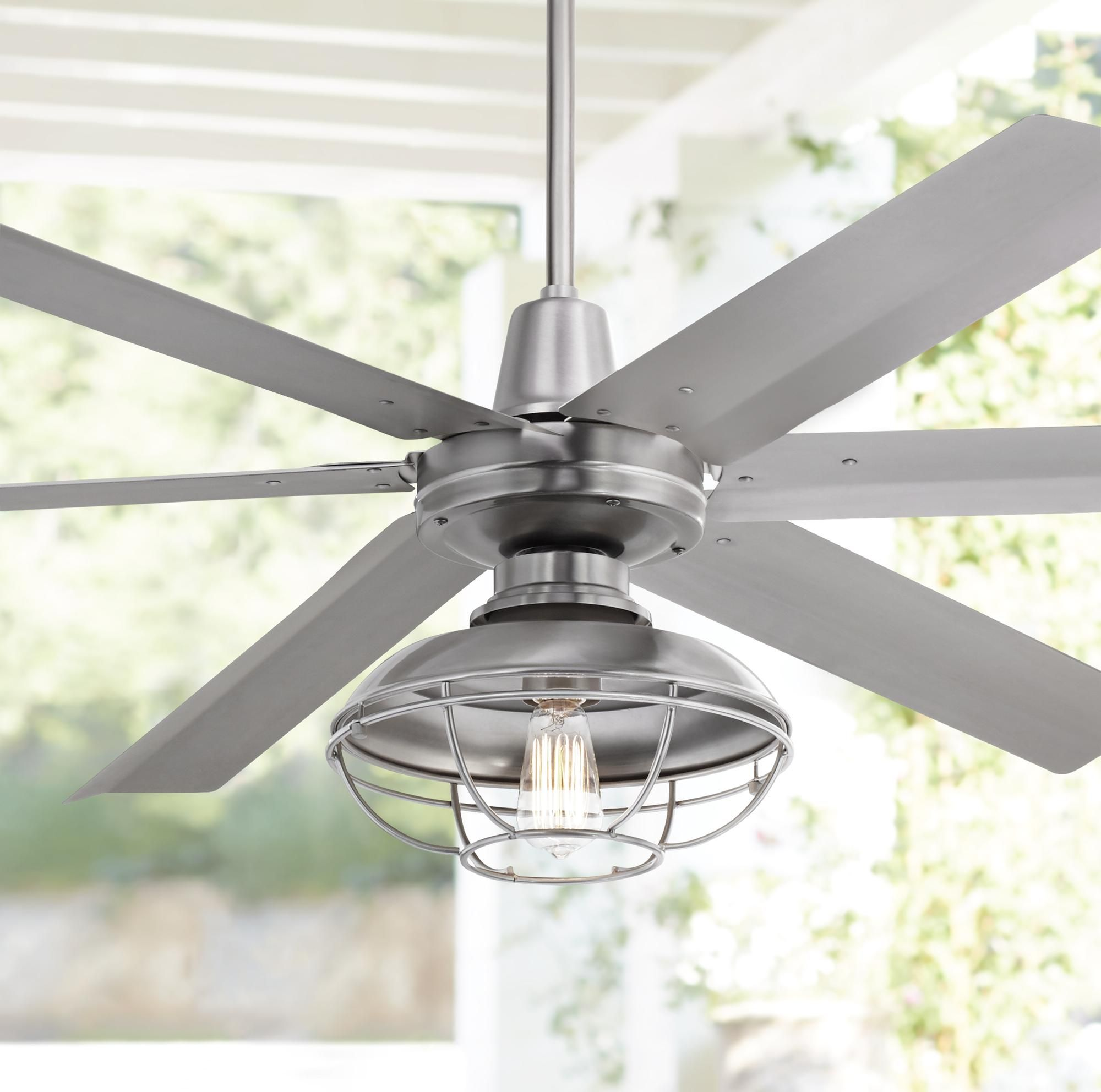 Ceiling Fans 60 Turbina Max Dc Franklin Park Damp Led Ceiling Fan In 2020 Led Ceiling Fan Ceiling Fan Outdoor Ceiling Fans