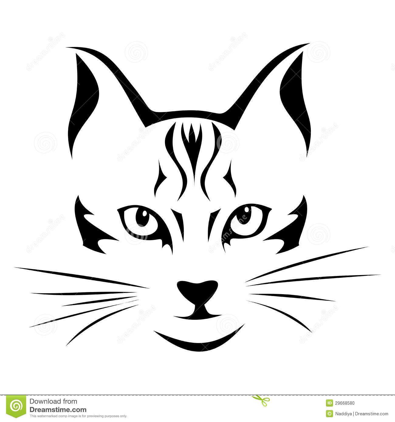 Ausmalbild Katzenkopf   Kinder Ausmalbilder